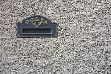 Black Iron mailbox