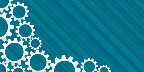 Abstract business banner with gears