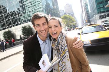Couple of tourists enjoying Manhattan