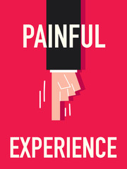 Word PAINFUL vector illustration