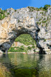 Vallon Pont d'Arc, Natural Rock bridge over the River in the Ard