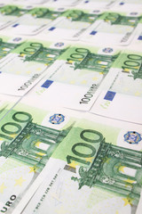 Stack of 100 euro bills
