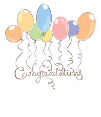 Background -- Congratulation with balloons
