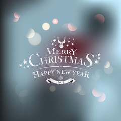 Christmas greeting card - holidays lettering