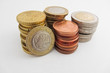 Obrazy na płótnie, fototapety, zdjęcia, fotoobrazy drukowane : Stack of Greek Euro coins