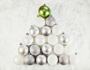 Christmas Baubles Shaped Christmas Tree