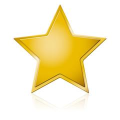Goldener Stern mit Spiegelung