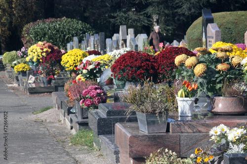 In de dag Begraafplaats toussaint