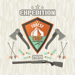 Expedition emblem forest camp