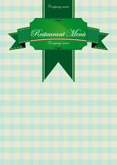 Restaurant menu list green
