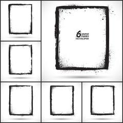 Set of grunge vector frames