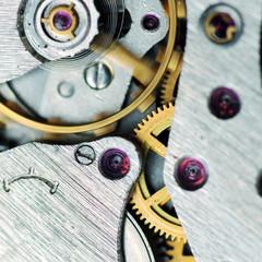 watch mechanism very close up