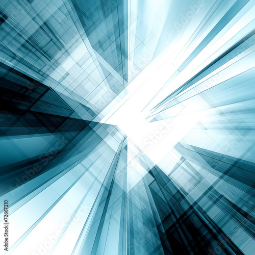 canvas print picture Abstract blue concept
