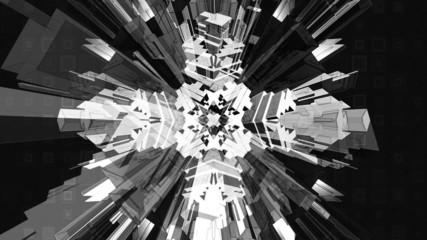 Black white Geometric VJ Loop Animated Background