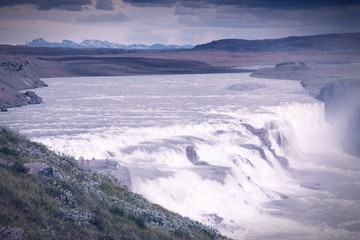 Gullfoss, Iceland - cross processed filtered style