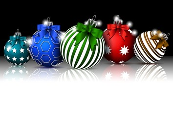 Christmas background with color baubles