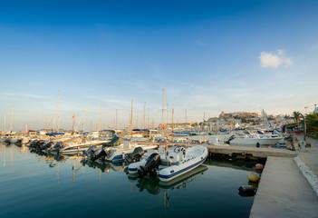 Fishing boats in Ibiza marina
