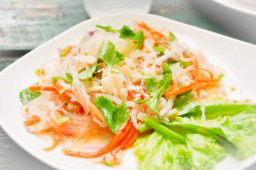 Thai salad ,salad,spicy salad