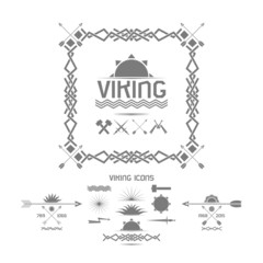 Viking icons, design elements