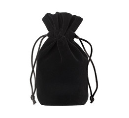 black pouch on a white background