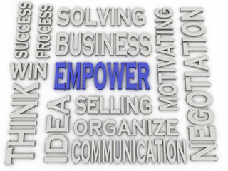 3d imagen Empower concept word cloud background