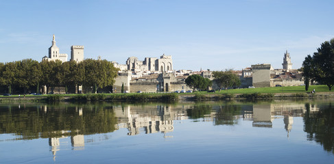 Avignon, France, across the Rhone