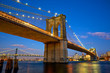 Brooklyn Bridge at twilight in New York City