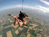 lancio con paracadute e GOPRO