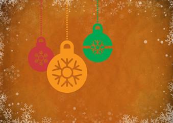 Orange Vintage Abstract Christmas Background