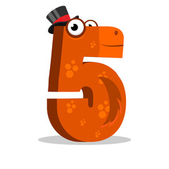 The English alphabet. Figure 5, the fifth. Number horse.