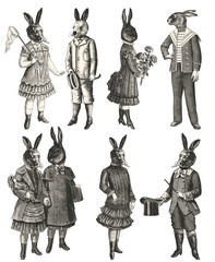 Children with animal head