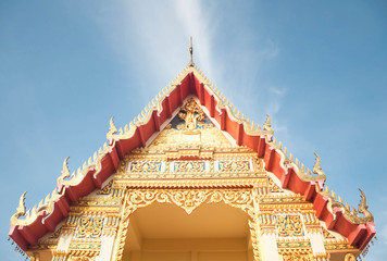 Decoration of Thai temple in Pattani, Thailand