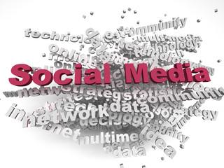 3d imagen Social Media concept word cloud background
