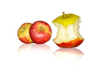 angebissener Apfel
