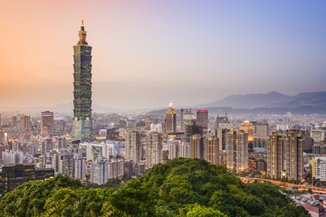 Taipei, Taiwan City Skyline