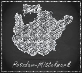 Karte von Potsdam-Mittelmark