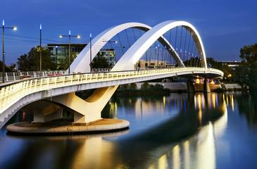 Lyon city and Rhone river