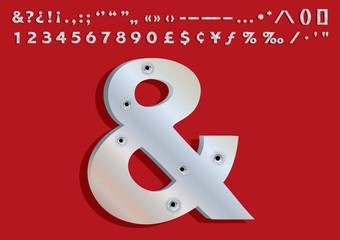 Bullets Riddled 3D Metallic Font Set – Part 02
