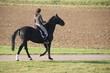 Reiterin mit Dressurpferd