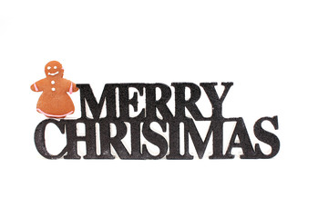 Merry Christmas mit Lebkuchenfrau