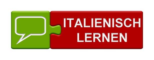 Puzzle Button rot grün: Italienisch lernen