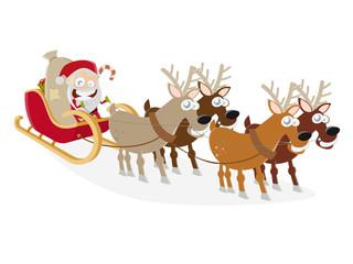 weihnachtsmann schlitten lustig weihnachten
