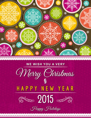 christmas background with hand draw snowflakes, vector