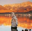 The sunset on Mono Lake