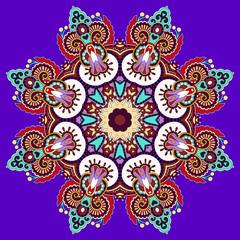 beautiful vintage violet colour circular pattern