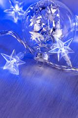 Glass Christmas ball with lights