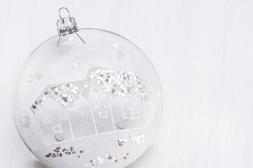 Transparent Cristmas bauble