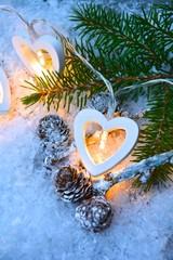 Weihnachtskarte - Herzlichterkette