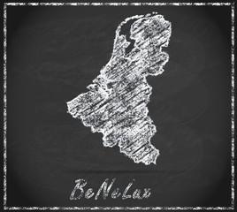 Karte von BeNeLux-Laender