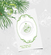 Ornamental Christmas background with greeting card